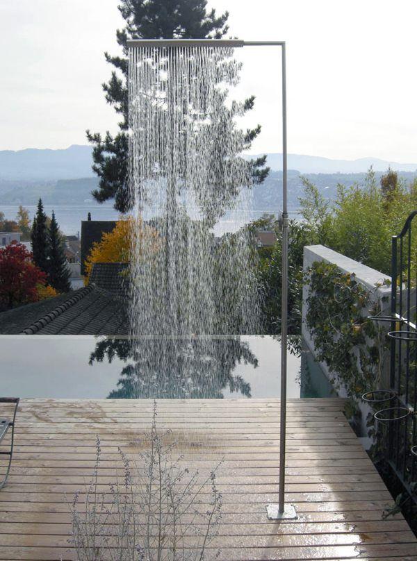 La douche d 39 ext rieur esth tique et pratique douche de for Douche exterieur design