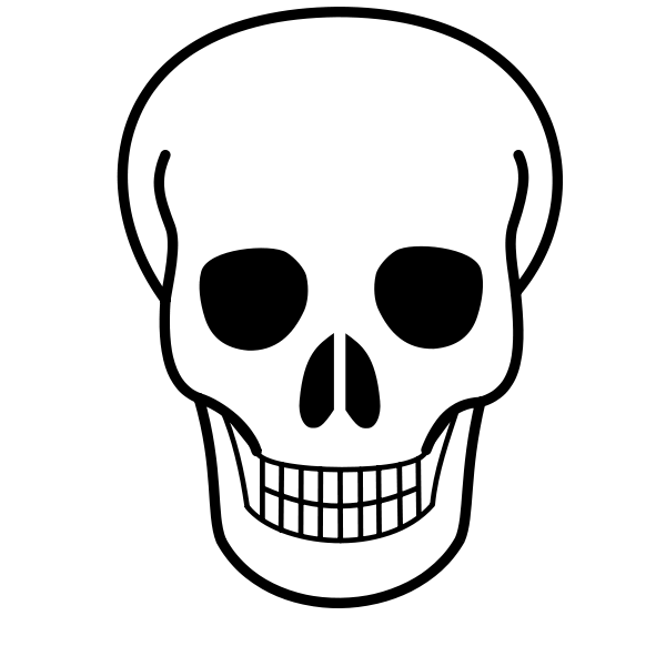 image about Printable Skull identified as Cost-free Printable Pics of Skulls Report:Skull-Icon.svg