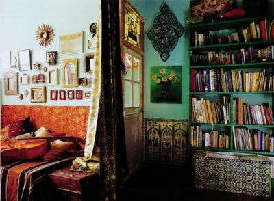 LOVE the color and patterns in this bohemian home