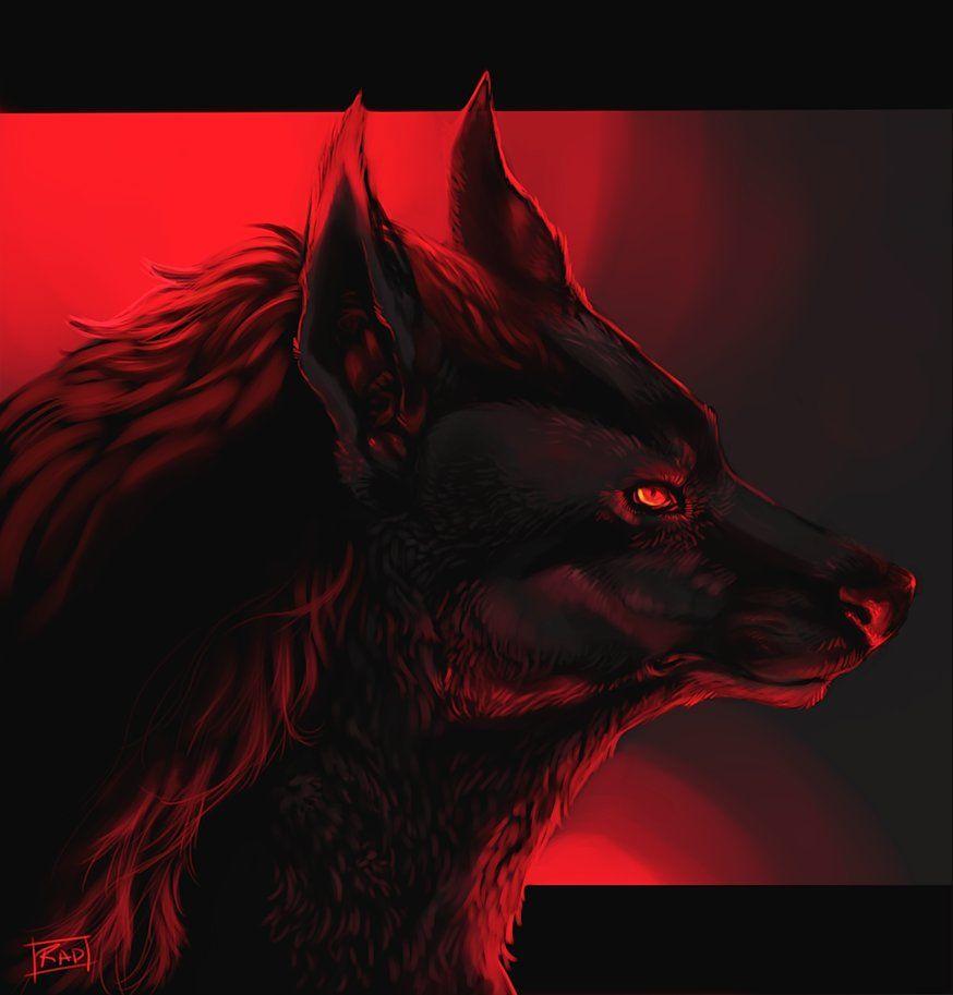 Red Night By Rajewel On Deviantart Werewolf Art Wolf Spirit Animal Demon Wolf