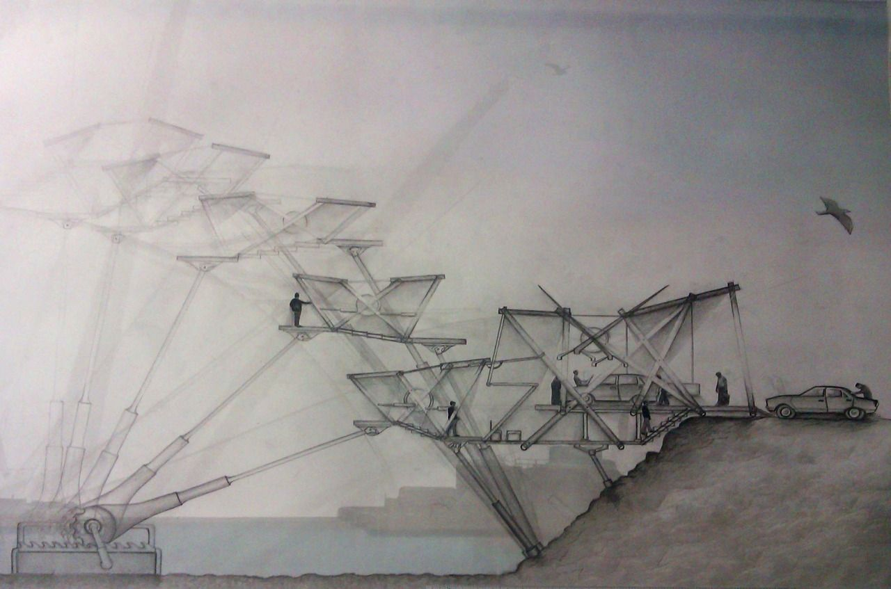 Line Drawings From D Models : The salvage d yard emma blackledge hand drawn onto