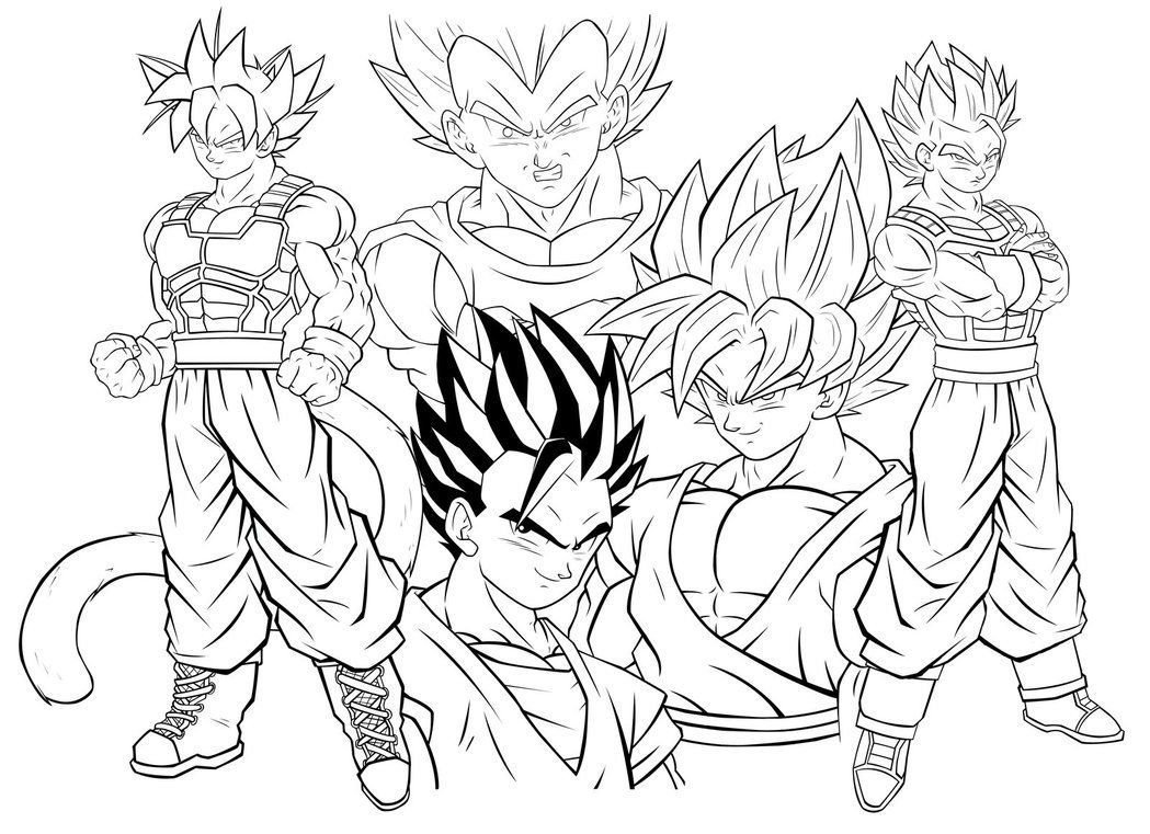 Dragon Ball Z Coloring Books Page Free Printable And Pages Super