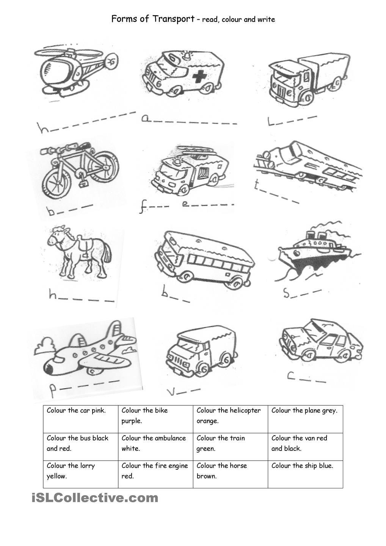 transport transportation transportation worksheet transportation unit transportation. Black Bedroom Furniture Sets. Home Design Ideas