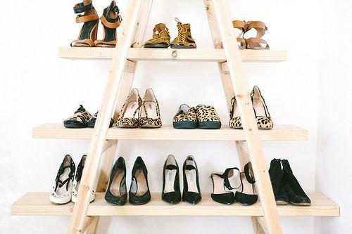 Diy Update The Ladder Shoe Shelf Deco Etagere