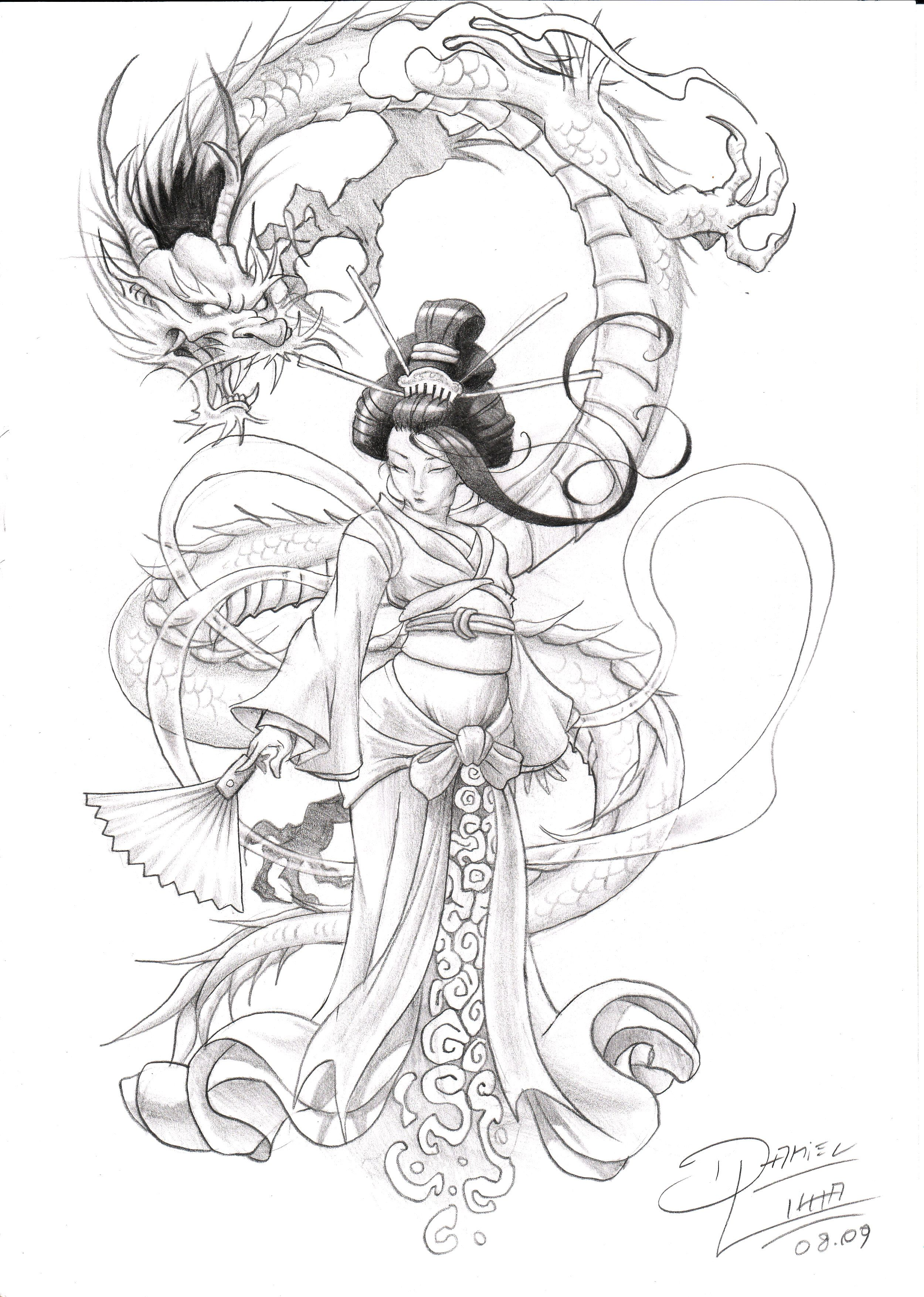 geisha__by_danihell_lima.jpg (2500×3508) | Japanese Dragon Tattoos ...
