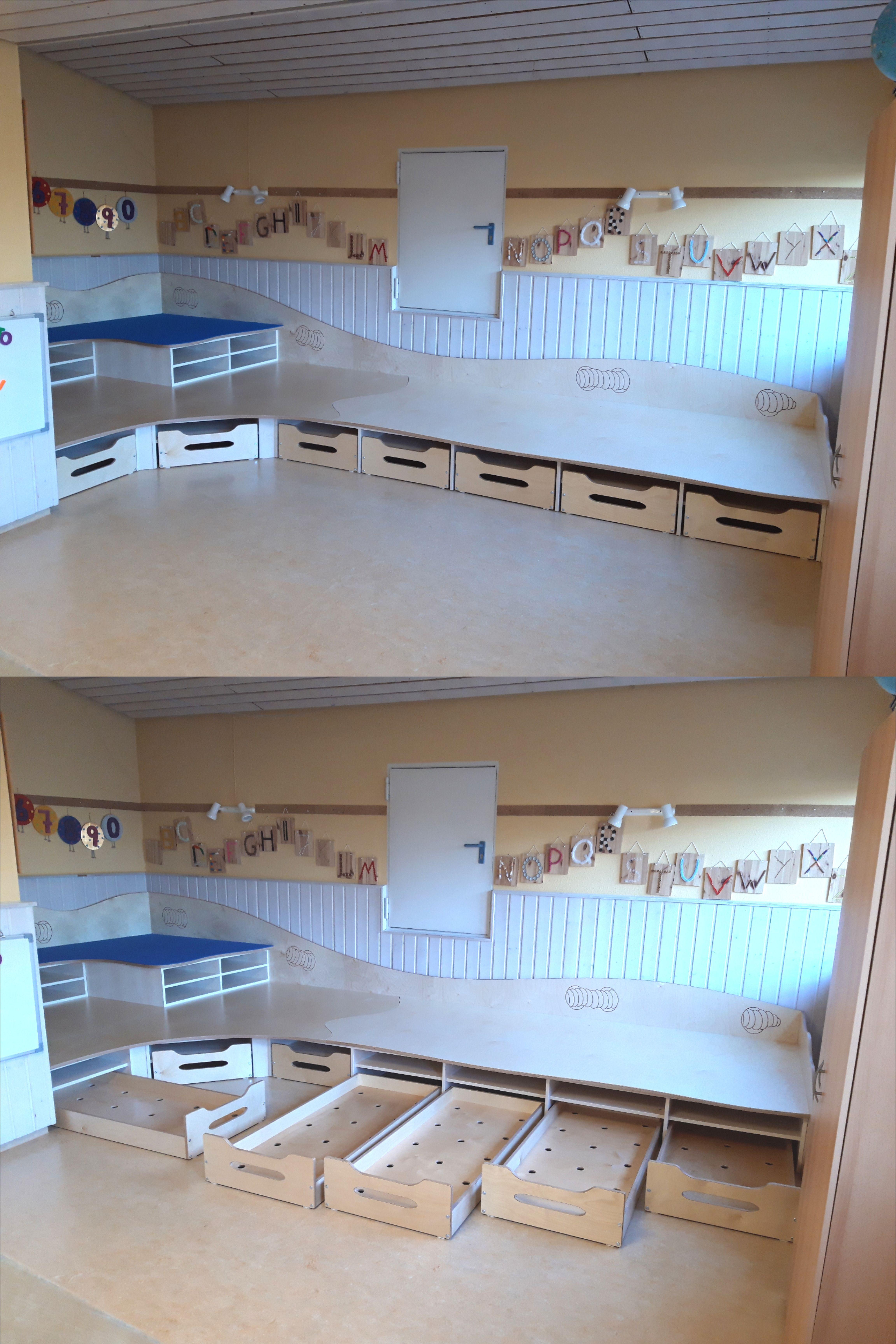 Spielpodest Schlafpodest Kita Raume Kindergartenentwurf Raumgestaltung