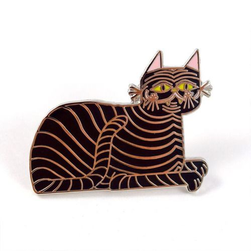llewmejia:  Rose gold kitty pin I made. Now available through...