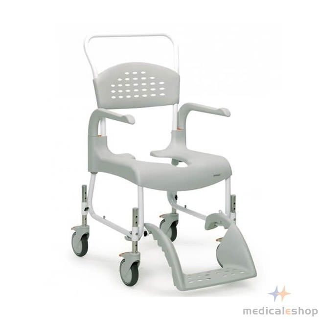 Etac Clean Height Adjustable Mobile Shower Commode Chair Adjustable Chairs Commode Chair Shower Commode Chair