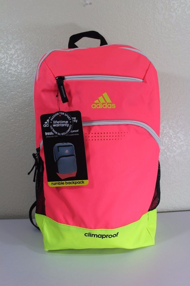 251c7ba08c95 adidas climaproof rumble backpack pink tech friendly water resistant  material  adidas  Backpack