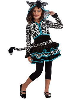 Child Zebra Hoodie Costume | Cheap Animals Halloween Costume for Girls  sc 1 st  Pinterest & Child Zebra Hoodie Costume | Cheap Animals Halloween Costume for ...