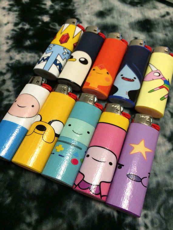 Adventure Time lighters!! : | 15 Radically Adorable Weedcessories