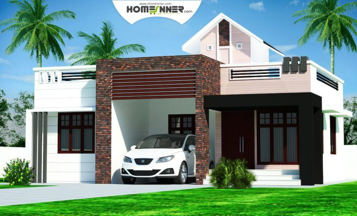 Rectangular kerala home plans design low cost bhk double for Tavoli design low cost