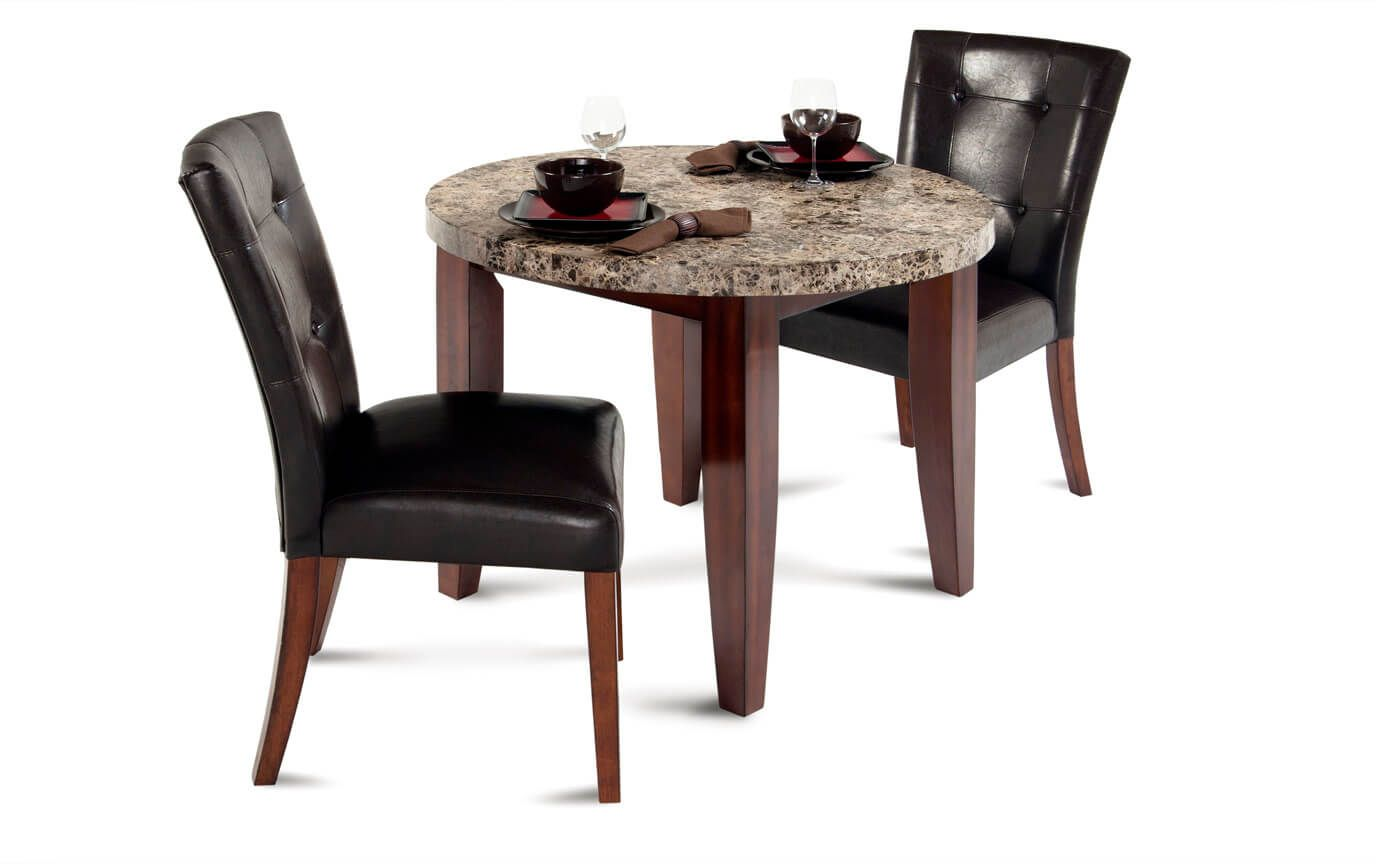 Montibello 40 Round 3 Piece Dining Set Bob S Discount Furniture Kitchen Table Settings Round Dining Room Dining Room Furniture Sets