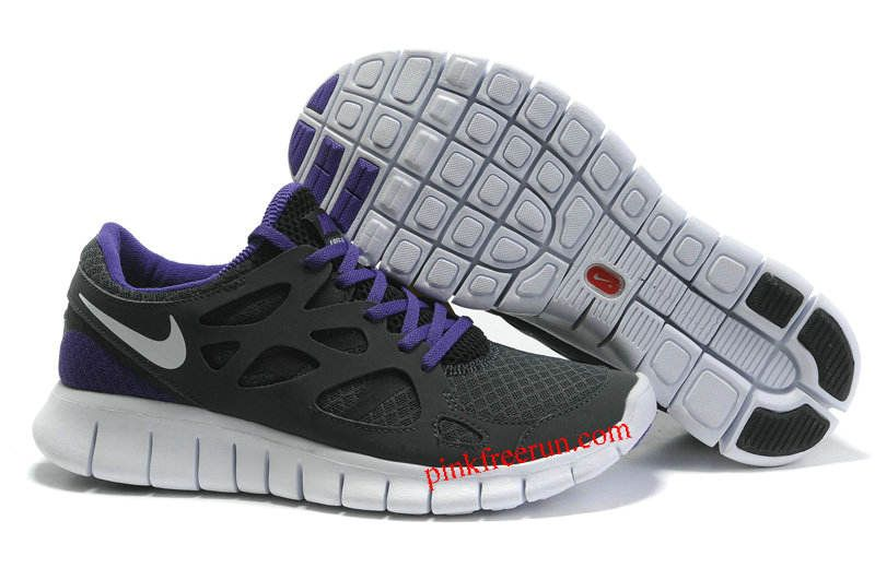 Nike Men's Running Shoes Free Run+ 2 Anthracite / White-Black-Club Purple