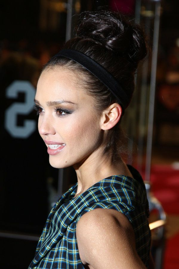 Jessica Alba Updo Bun Hairstyle And Hair Style