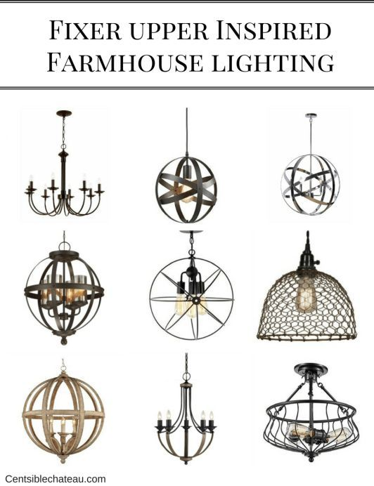 fixer upper inspired farmhouse lighting. Black Bedroom Furniture Sets. Home Design Ideas