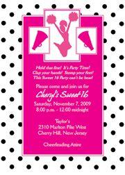 Cheerleading Party Invitation Birthday Party Cheer Pinterest