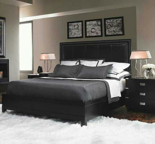 45 Master Bedroom Design Ideas That Range From The Modern: High Contrast Bedroom Decorating With Modern Bedding Sets