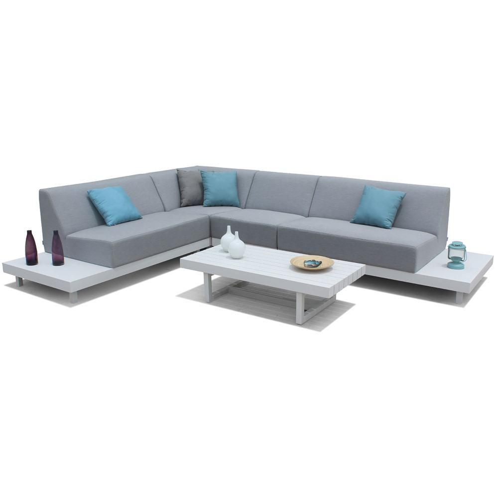 Maze Lounge Alvory All Weather Corner Garden Sofa Set U0026 Table