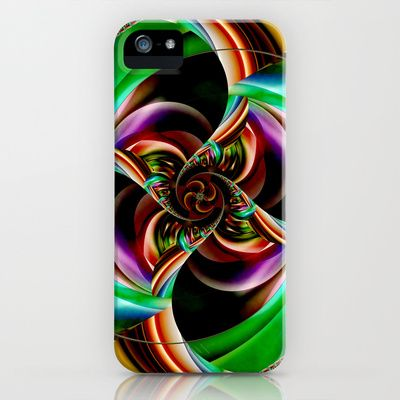 Flower abstract iPhone & iPod Case by Christine baessler - $35.00
