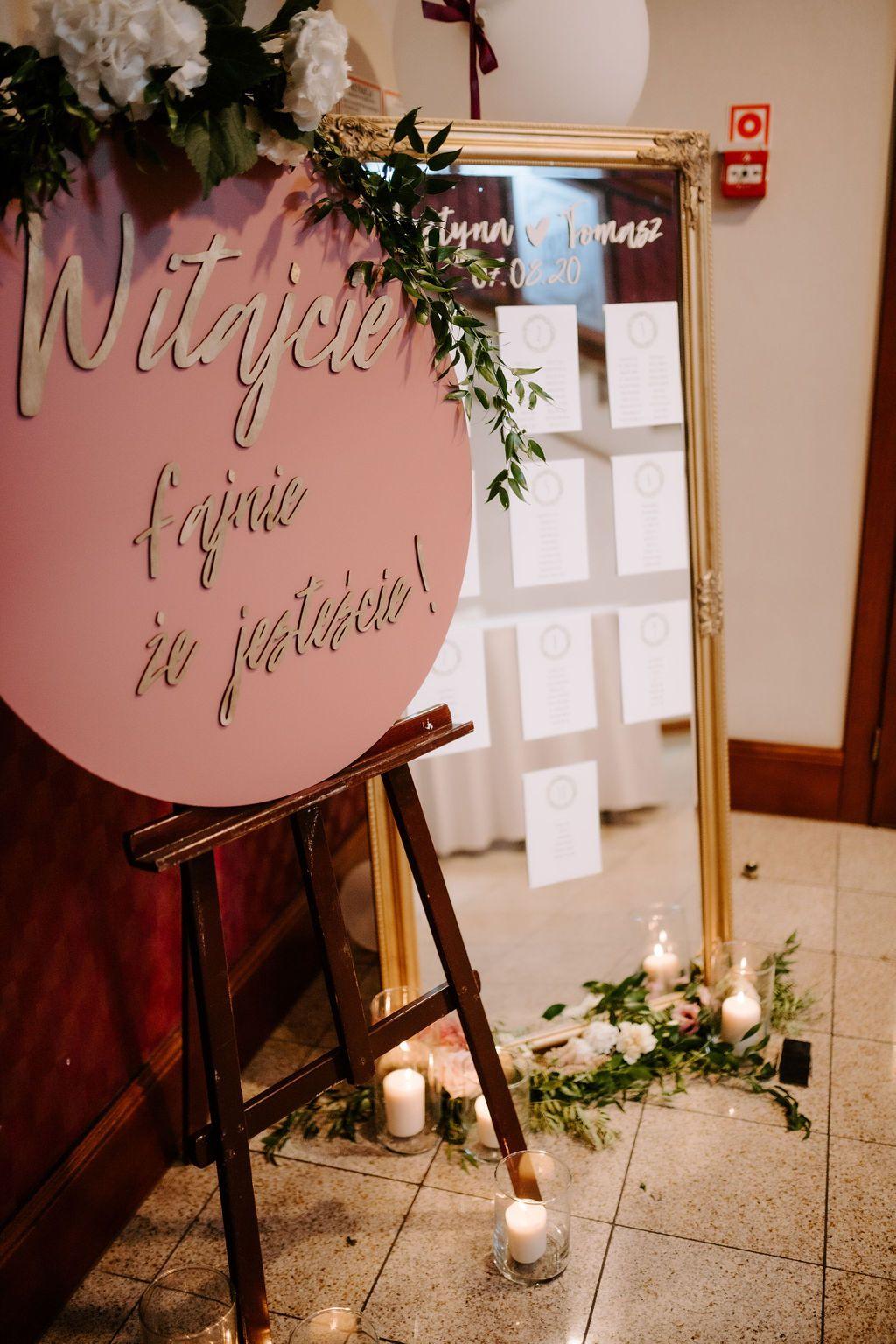 Tablica Powitalna I Plan Stolow Wedding Inlove Neon Signs
