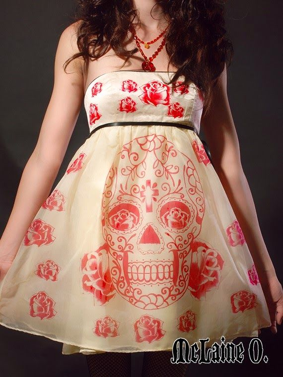 Sugar Skull Day of the Dead Party dress by McLaine