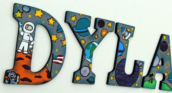 Hey, I found this really awesome Etsy listing at https://www.etsy.com/listing/156489256/space-theme-wooden-letters