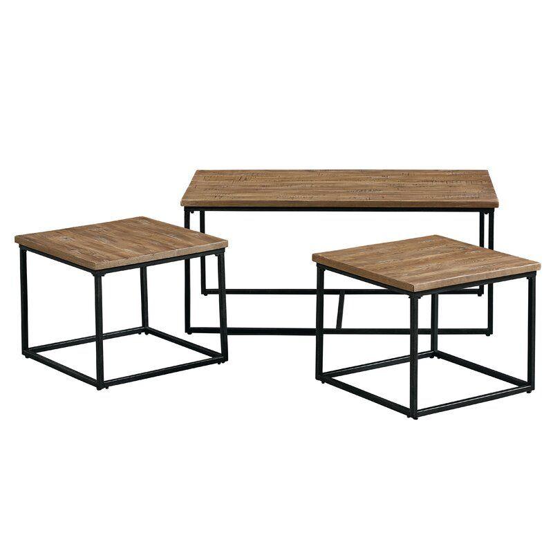 Hempel 3 Piece Coffee Table Set In 2020 3 Piece Coffee Table Set