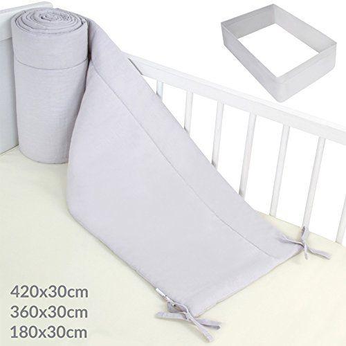 tour de lit 360 bébé Infantastic   Tour de lit bébé gris   housse en 100 % coton   360  tour de lit 360 bébé