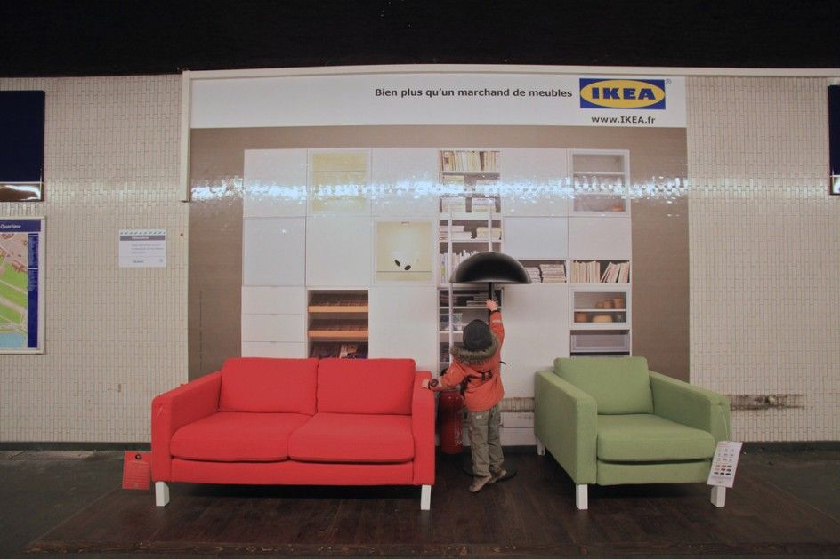 IKEAs Parisian Guerilla Marketing Campaign Examples Guerrilla Photo