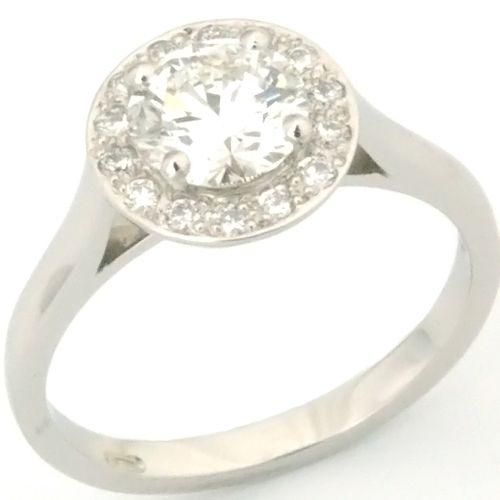 61b48d7debc8 Palladium Tiffany Legacy Style Diamond Engagement Ring