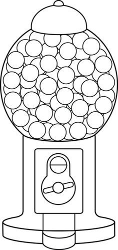 Gumball Machine Clip Art Google Search Quiet Book Ideas
