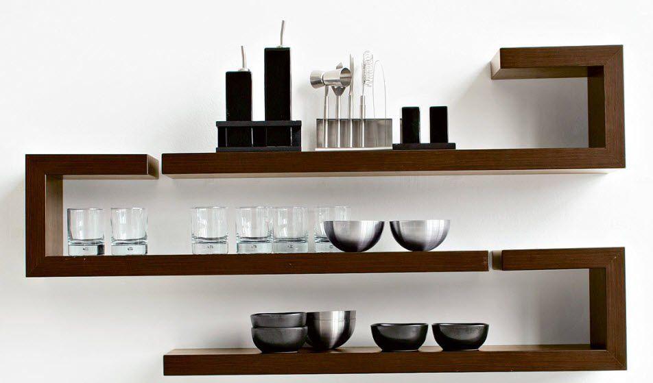 Modern Wall Bookshelves Design おもしろ インテリア ウォール