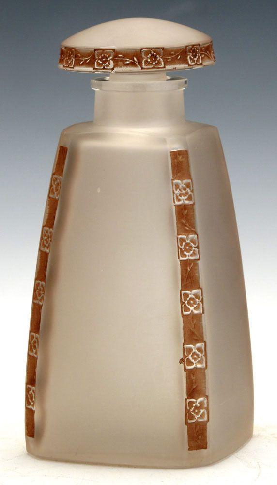 Rene Lalique 'Fleurettes' Glass Perfume Bottle | eBay