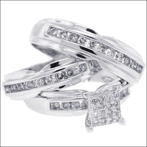 Bride And Groom Wedding Ring Sets 3