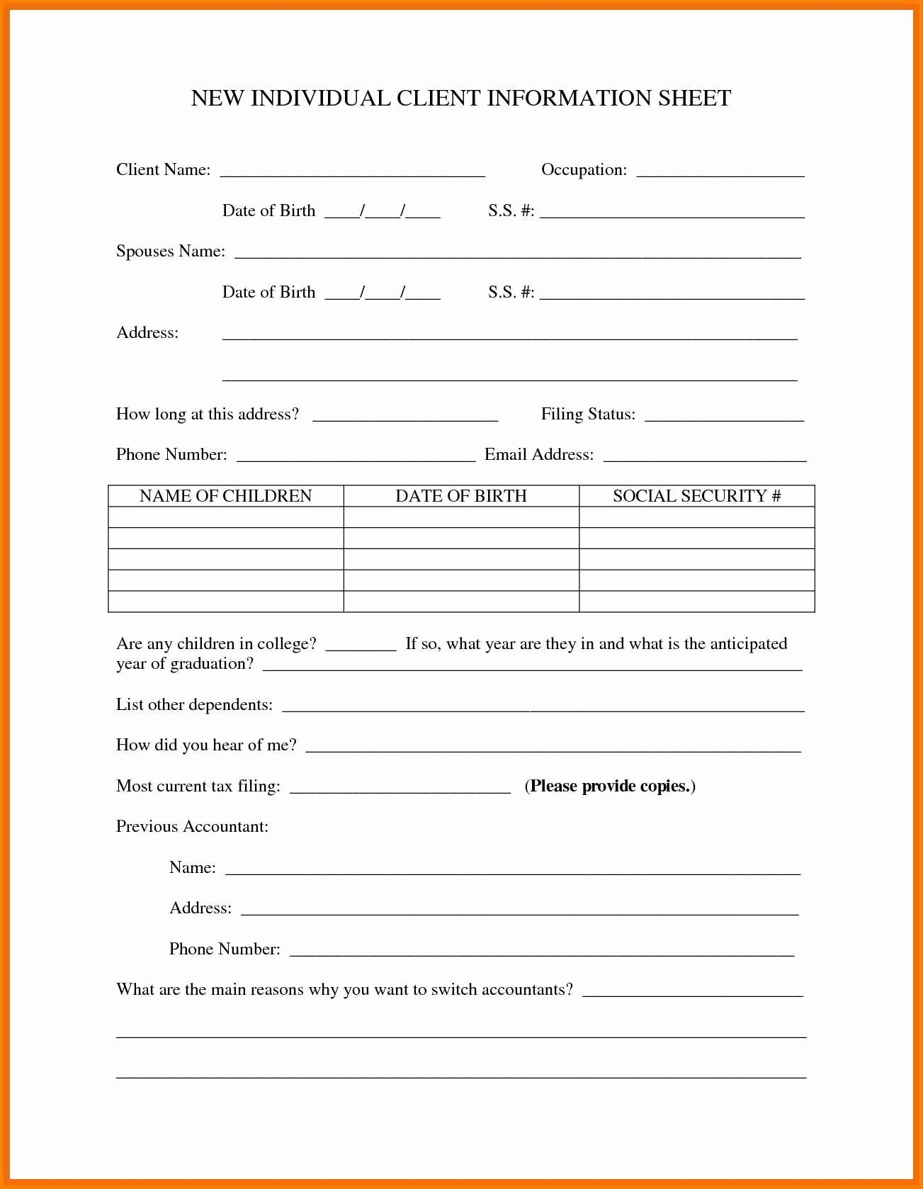 Fresh New Customer Form Template Free In 2020 Templates Sample