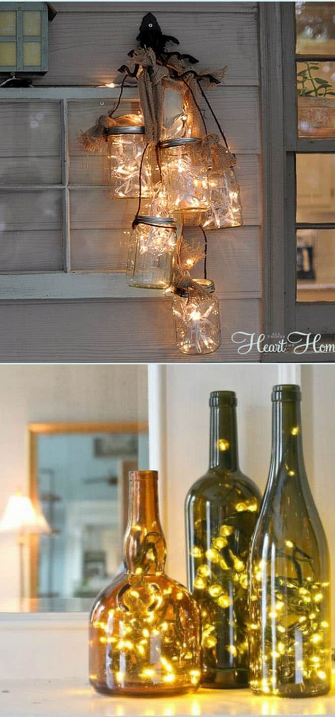 magical ways to use string lights add warmth and beauty your home also decorating ideas pinterest cheer rh