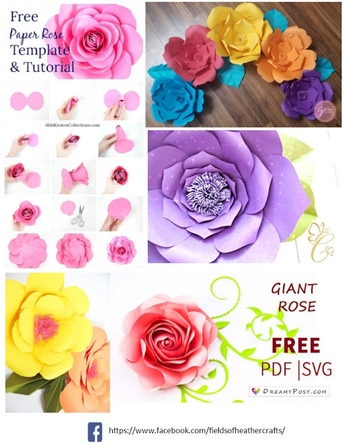 Free Templates & Tutorials For Making Paper Flowers With Cricut or Silhouette #giantpaperflowers
