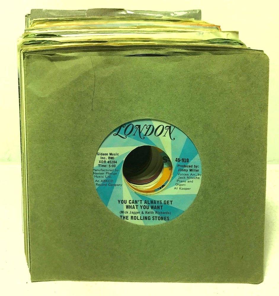 Classic Rock Lot Of 75 7 45 Rpm Vinyl Records Jukebox Single Stones Eric Clapton Vinyl Records Single Stone Eric Clapton