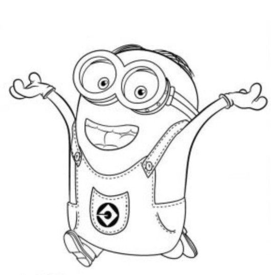 coloring page minions | Dave The Minion Despicable Me Coloring Page ...