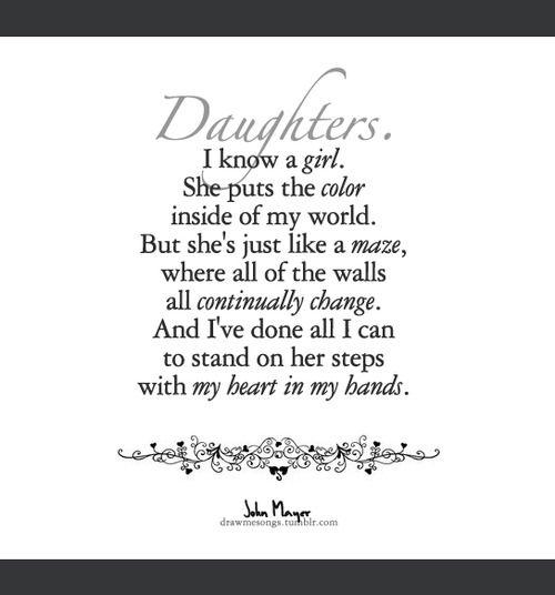 Draw Me Songs Sing Me Sweet John Mayer Daughters Lyrics To Live By Daughtry Lyrics Daughter Lyrics