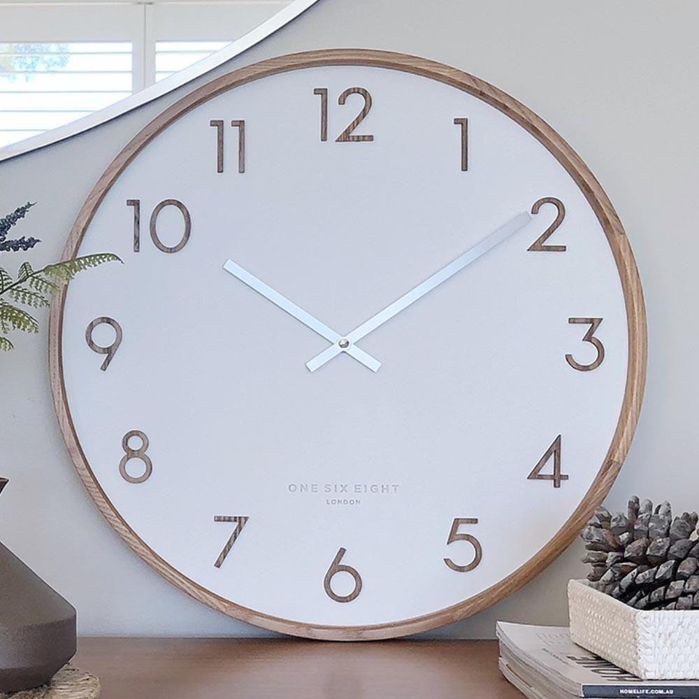 Scarlett Minimalist Silent Movement Wall Clock Charcoal Minimalist Wall Clocks Wall Clock Clock
