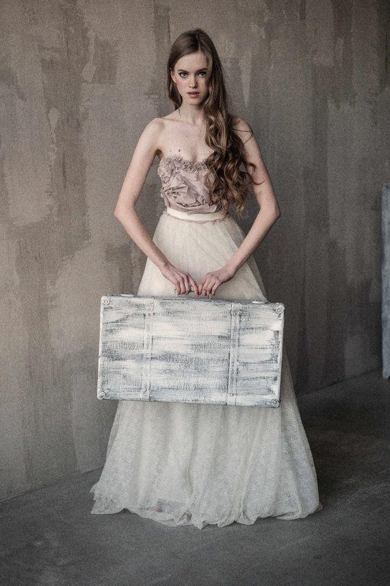 Probe Verkauf nur s Größe Korsett Brautkleid mit von CathyTelle ...