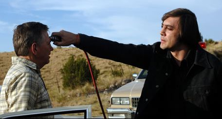 Javier Bardem as Anton Chigurh in No Country For Old Men | Movie scenes,  Summer movie, Iconic movies