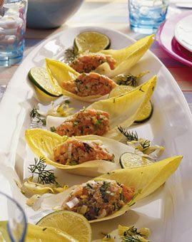 Photo of Salmon tartare on chicory recipe