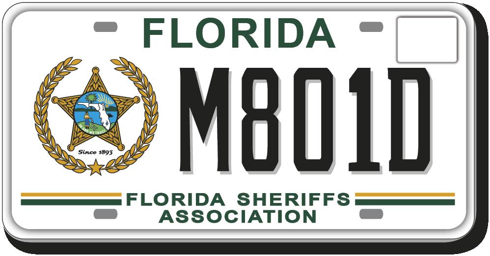 FSA Specialty License Plate Florida Sheriffs Association