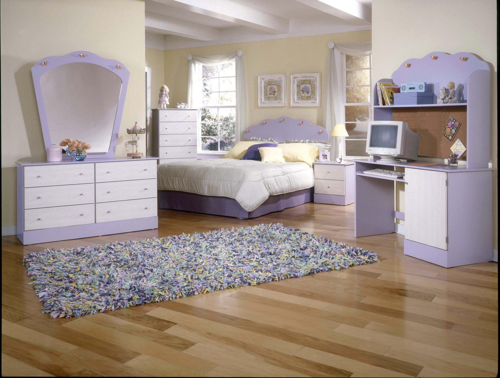 The Daydream Lavender Butterfly Bedroom Set Girls Bedroom