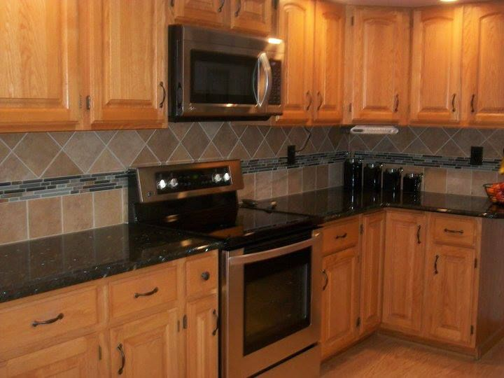 6x6 tiles with glass accent | Kitchens | Tiles, Kitchen ...