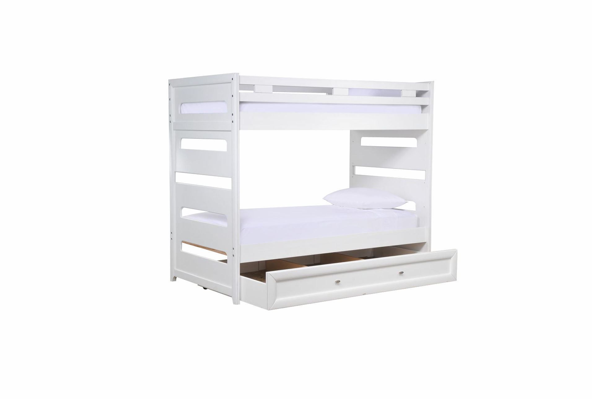 Varsity White Twin Twin Bunk Bed W Trundle White Bunk Beds Beds