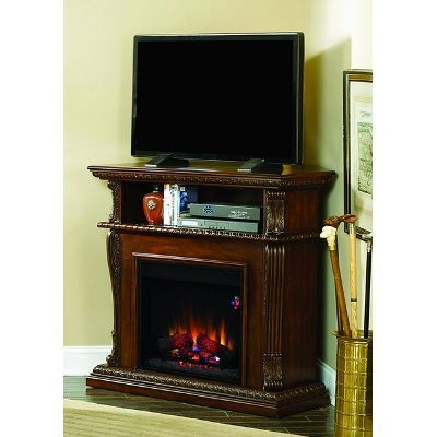 Cherry Fireplace and TV Stand - Corinth